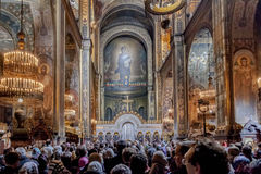 Pascua 2014 en catedral del St Volodymyr de Ucrania 22.04.2014 //es Imagen de archivo libre de regalías