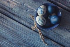 Pascua en estilo rústico Foto de archivo libre de regalías
