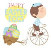 Pascua feliz A ilustración del vector