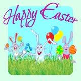 Pascua feliz 07 ilustración del vector