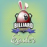Pascua feliz Bola de billar bajo la forma de huevo stock de ilustración