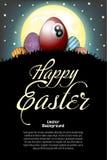 Pascua feliz Bola de billar bajo la forma de huevo libre illustration