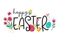 Pascua feliz brillante y alegre libre illustration