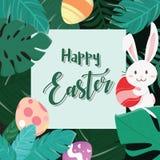 Pascua feliz Bunny In The Forest ilustración del vector