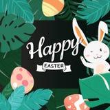 Pascua feliz Bunny In The Forest stock de ilustración