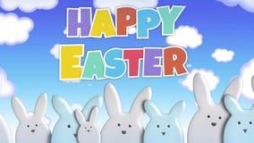 Pascua feliz Bunny March Loop stock de ilustración