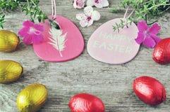 Pascua feliz Egs de Pascua Imagen de archivo libre de regalías