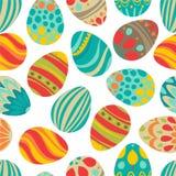 ¡Pascua feliz! El día de fiesta feliz eggs el modelo, fondo inconsútil para su diseño de la tarjeta de felicitación Huevos de Pas Imagen de archivo libre de regalías