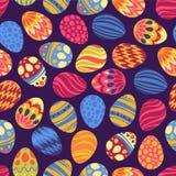 ¡Pascua feliz! El día de fiesta feliz eggs el modelo, fondo inconsútil para su diseño de la tarjeta de felicitación Huevos de Pas Imágenes de archivo libres de regalías