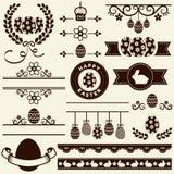 ¡Pascua feliz! Elementos del diseño del vector Fotografía de archivo libre de regalías
