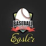 Pascua feliz Huevo bajo la forma de bola del b?isbol stock de ilustración