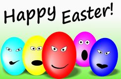Pascua feliz Huevos de Pascua felices imagen de archivo libre de regalías