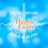Pascua feliz Jesús es tarjeta de felicitación viva Fotos de archivo libres de regalías