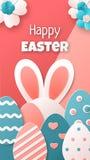 Pascua feliz Modelo del vector stock de ilustración