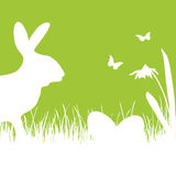Pascua feliz - silueta blanca ilustración del vector