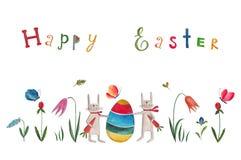 Pascua feliz Tarjeta de felicitación Fotos de archivo libres de regalías