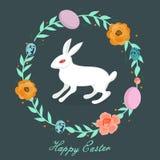 Pascua feliz Tarjeta de felicitación stock de ilustración