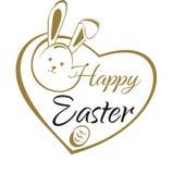 Pascua feliz Tarjeta de letras de la mano Saludo de Pascua ilustración del vector