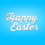 Pascua feliz, tipo de la escritura 3D en fondo del modelo Foto de archivo