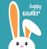 Pascua feliz y conejito Imagen de archivo libre de regalías