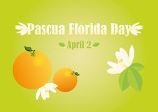 Pascua Florida Day Vector. Illustrations for Florida feast - Easter flower Royalty Free Stock Photo
