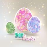 Pascua, huevos con los elementos geométricos Imagen de archivo