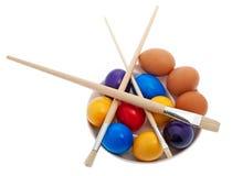 Pascua, huevos de Pascua pintados Imágenes de archivo libres de regalías