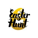 Pascua Hunt Handwritten Lettering Imagenes de archivo