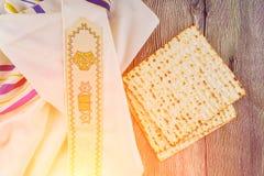 Pascua judía judía de Pesah del día de fiesta con matza Fotos de archivo