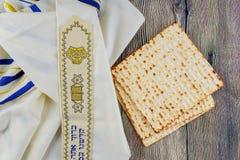 Pascua judía judía de Pesah del día de fiesta con matza Imagen de archivo