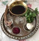 Pascua judía Seder Imagen de archivo libre de regalías