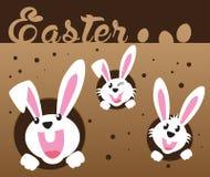 Pascua muy feliz, conejito y huevo con el fondo del color Imagen de archivo