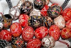 Pascua pintó los huevos Foto de archivo