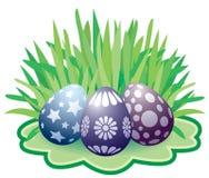 Pascua pintó los huevos ilustración del vector