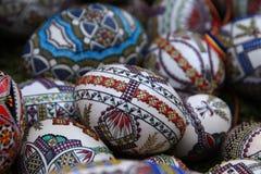 Pascua pintó los huevos Fotografía de archivo