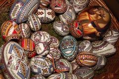 Pascua pintó los huevos Fotografía de archivo libre de regalías
