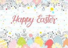 Pascua sazona la tarjeta de felicitaciones Fotos de archivo