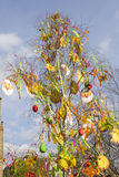Pascua tradicional adornó el árbol en Praga Fotos de archivo libres de regalías