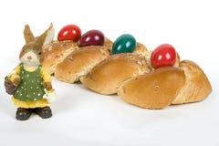 Pascua trenzó los pasteles daneses imagenes de archivo