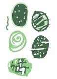 Pascua verde fijada con los huevos Fotografía de archivo