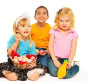 Pascua y niños Imágenes de archivo libres de regalías