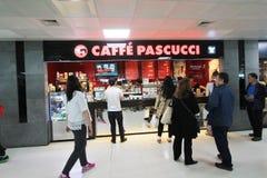Pascucci Caffe στο διεθνή αερολιμένα Jeju στοκ φωτογραφία με δικαίωμα ελεύθερης χρήσης
