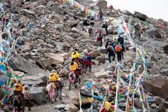 Pase el yatra de Tíbet Kailas de la gama de Kailash Himalayas del soporte Imagen de archivo libre de regalías