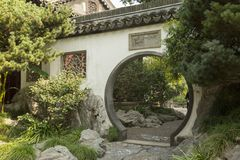 Pase en la pared en el jardín de Yu en Shangai, China Fotografía de archivo