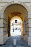 Pase en Sibiu, capital europea de la cultura por el año 2007 Imagenes de archivo