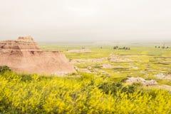 Pase por alto | Badlands Fotografía de archivo libre de regalías