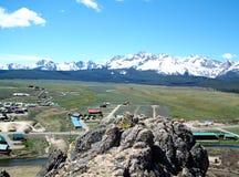 Pase por alto de Stanley, de Idaho y de las montañas 2 del diente de sierra Imagenes de archivo