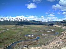 Pase por alto de Stanley, de Idaho y de las montañas 3 del diente de sierra Imagen de archivo libre de regalías