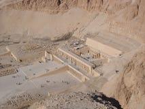 Pase por alto del templo de Hatshepsut, Luxor, Egipto Fotografía de archivo libre de regalías