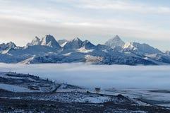 Pase por alto el Mt Gongga Imagen de archivo libre de regalías
